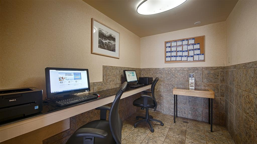 Best Western Plus Frontier Motel - Our business center is available to help your prepare travel itineraries, send emails or browse the web.