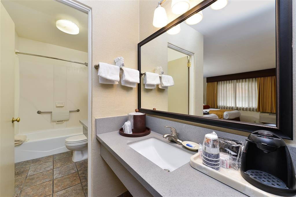Best Western Plus Frontier Motel - All guest bathrooms have a large vanity with plenty of room to unpack the necessities.