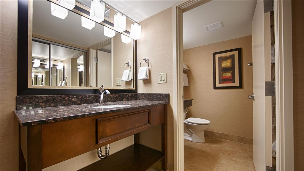 Best Western CottonTree Inn - All guests bathrooms have a large vanity with plenty of room to unpack the necessities.