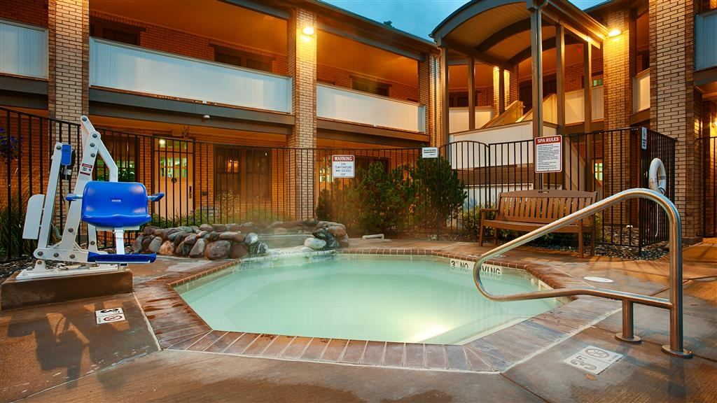 Best Western Plus Plaza Hotel - Our mineral hot tub is open year round, and is filled with natural mineral springs and memories.