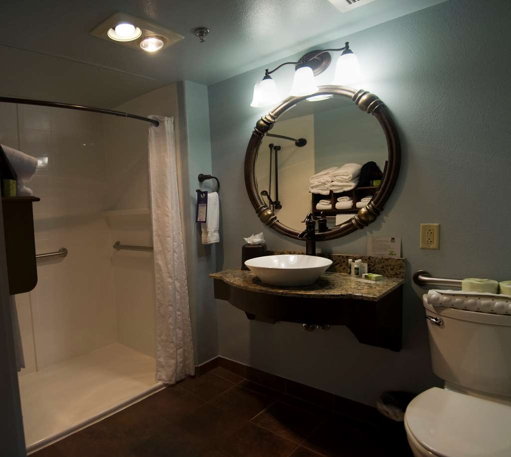 Best Western Plus Plaza Hotel - Our accessible bathrooms offer space and comfort for your every need.