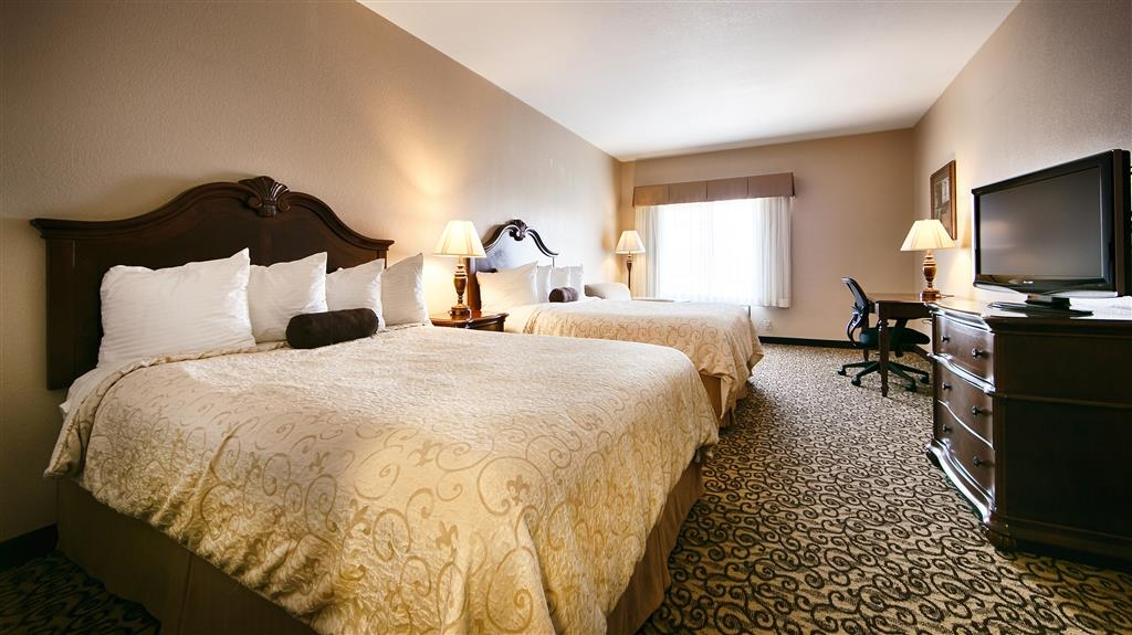 Best Western Plus Fossil Country Inn & Suites - Our standard room with two queen beds feature many desired attributes, including free wireless Internet and flat screen TVs.