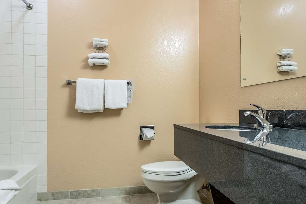 SureStay Hotel by Best Western Wenatchee - All guest bathrooms have a large vanity with plenty of room to unpack the necessities.