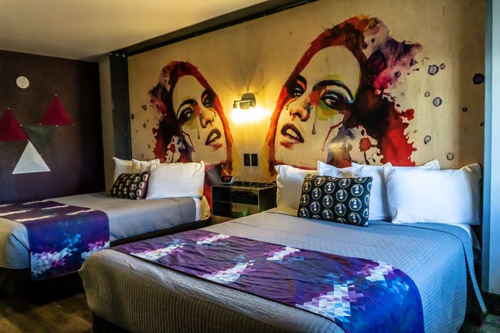 SureStay Hotel by Best Western Phoenix Downtown - Make a reservation in this 2 queen accessible room featuring a flat screen TV and walk in shower.