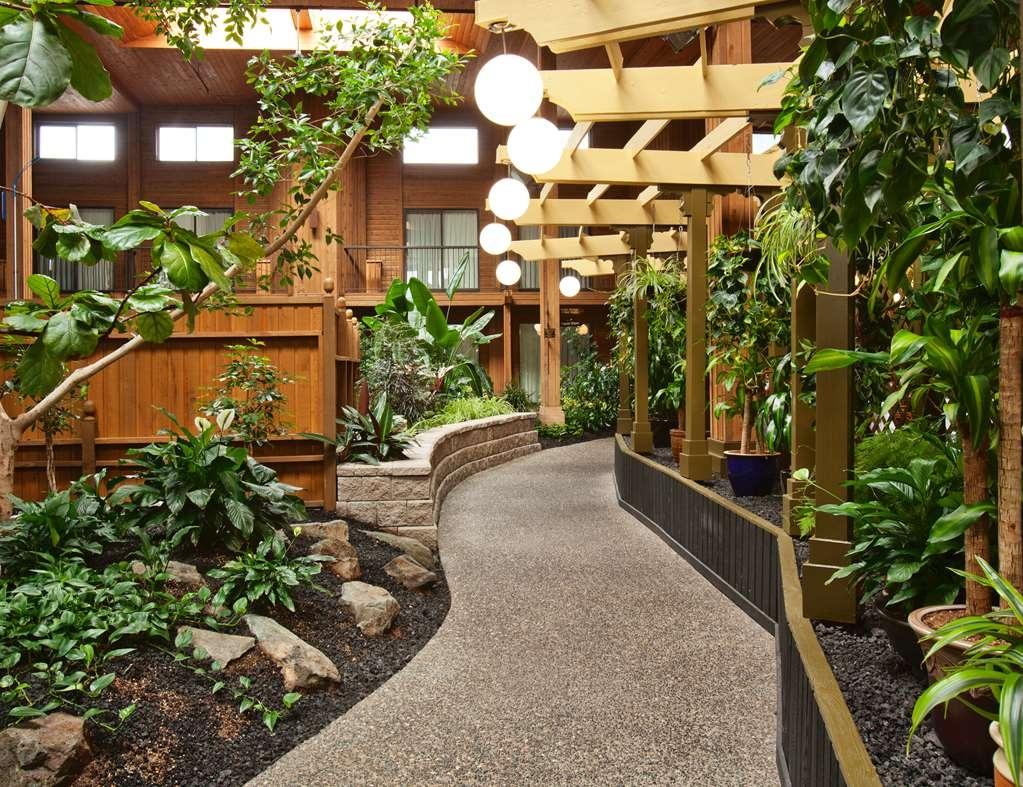 SureStay Hotel by Best Western Chilliwack - Pathway through the Tropical Atrium Garden