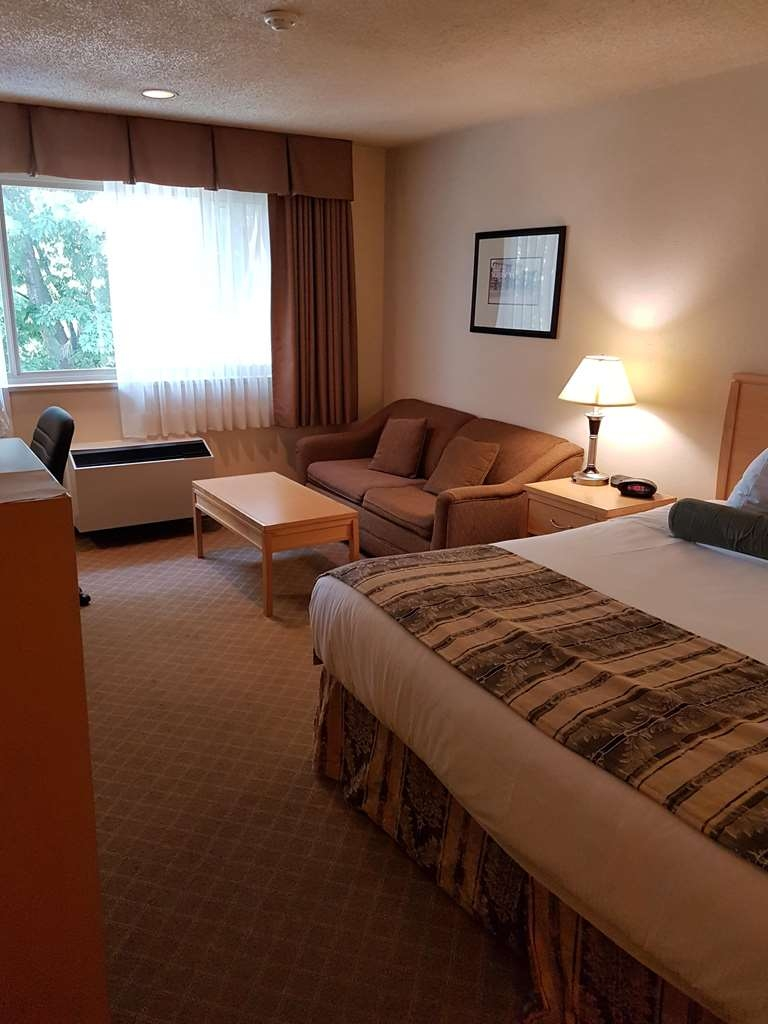 SureStay Plus Hotel by Best Western Coquitlam - Stretch our and relax in this king room featuring a sofabed, microwave and refridge.