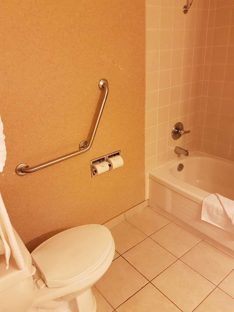 SureStay Plus Hotel by Best Western Coquitlam - We designed our mobility accessible bathroom for easy access.