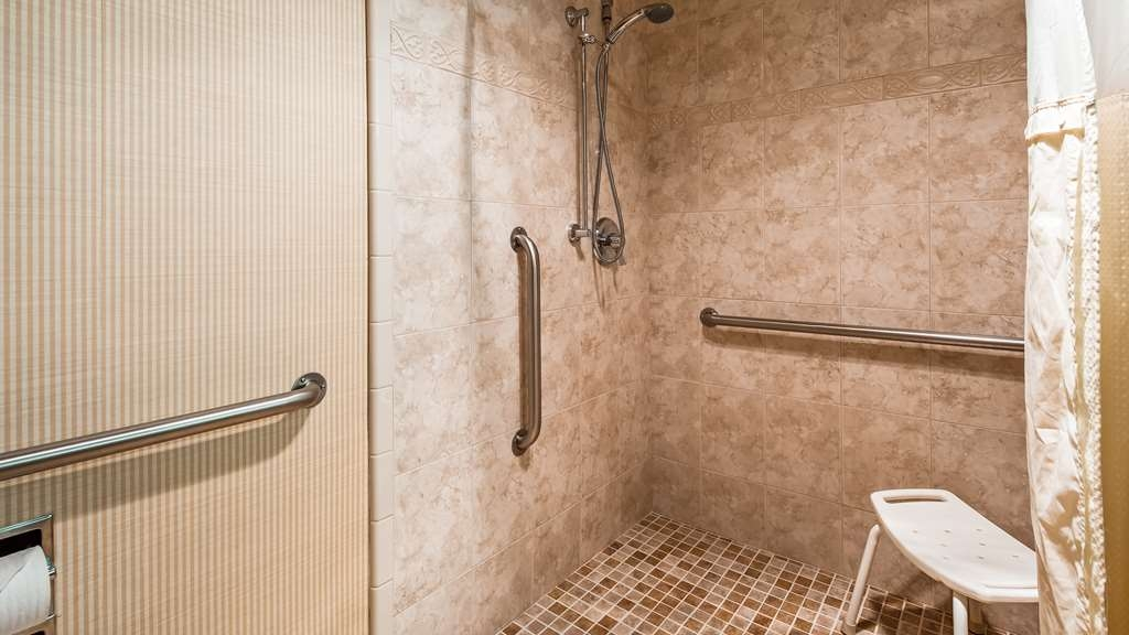 SureStay Plus Hotel by Best Western Lompoc - We designed our mobility accessible roll in shower for easy wheelchair access..