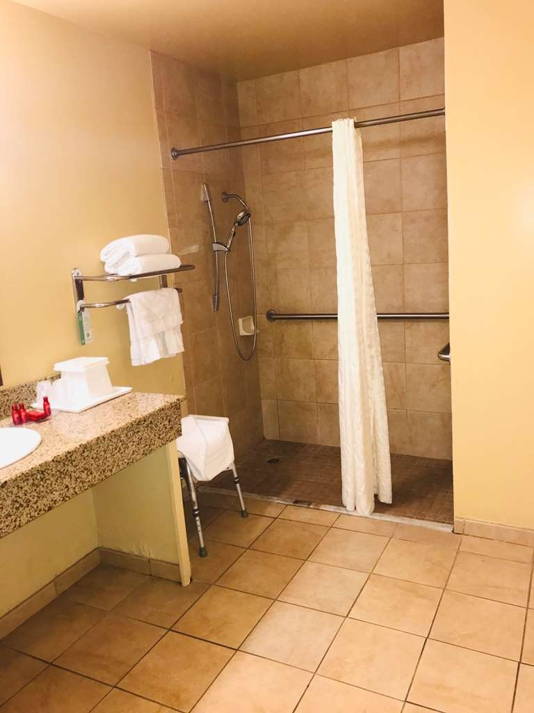 SureStay Plus Hotel by Best Western San Bernardino South - Accessible Bath Area With Roll In Shower