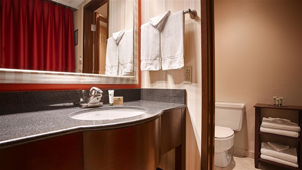 Best Western Plus Sutter House - Enjoy getting ready for the day in our beautiful guest bathrooms.