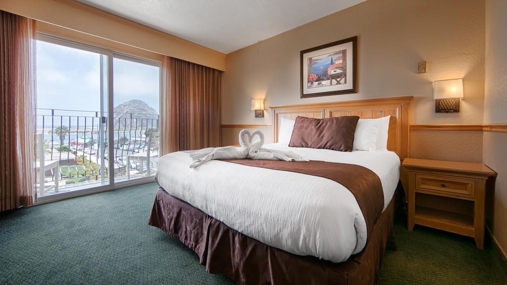 Best Western San Marcos Inn - This king guest room has a view of the Morro Bay Rock - perfect for an extended stay or weekend getaway.