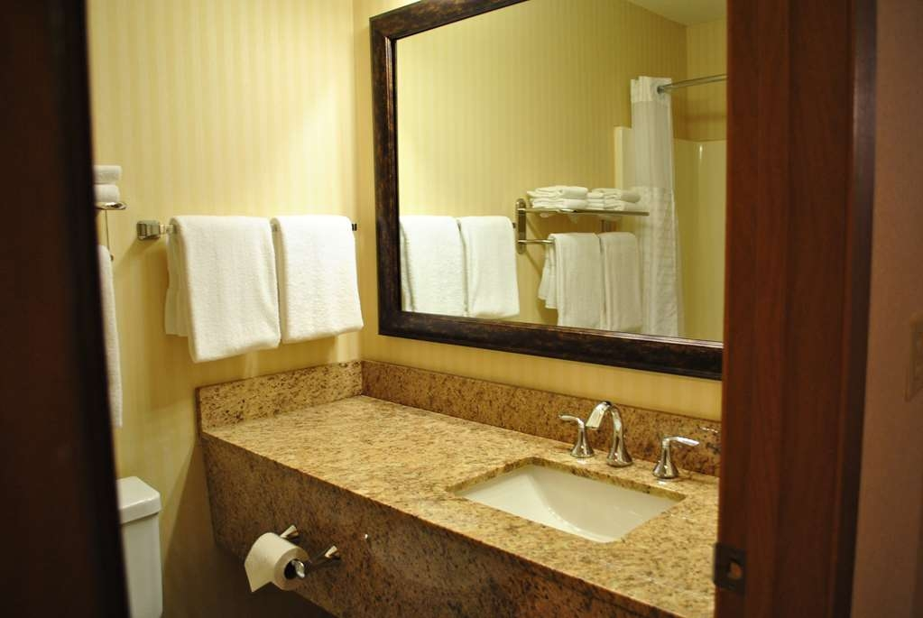 SureStay Plus Hotel by Best Western Buffalo - All guest bathrooms have a large vanity with plenty of room to unpack the necessities.