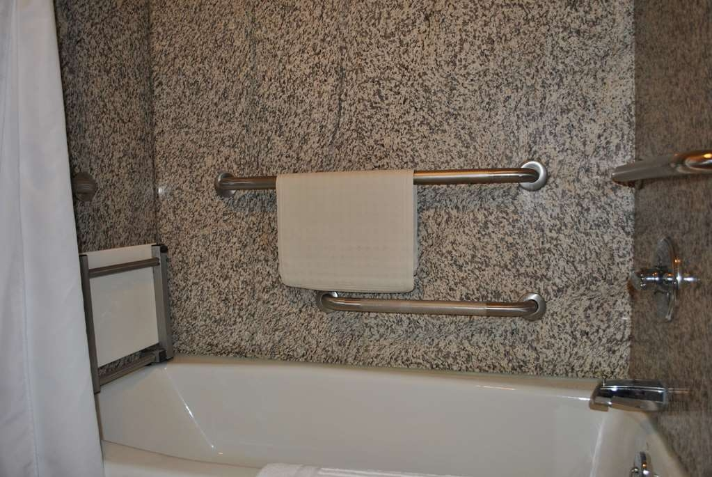 SureStay Plus Hotel by Best Western Buffalo - We designed our bathroom to meet your mobility accessible needs.