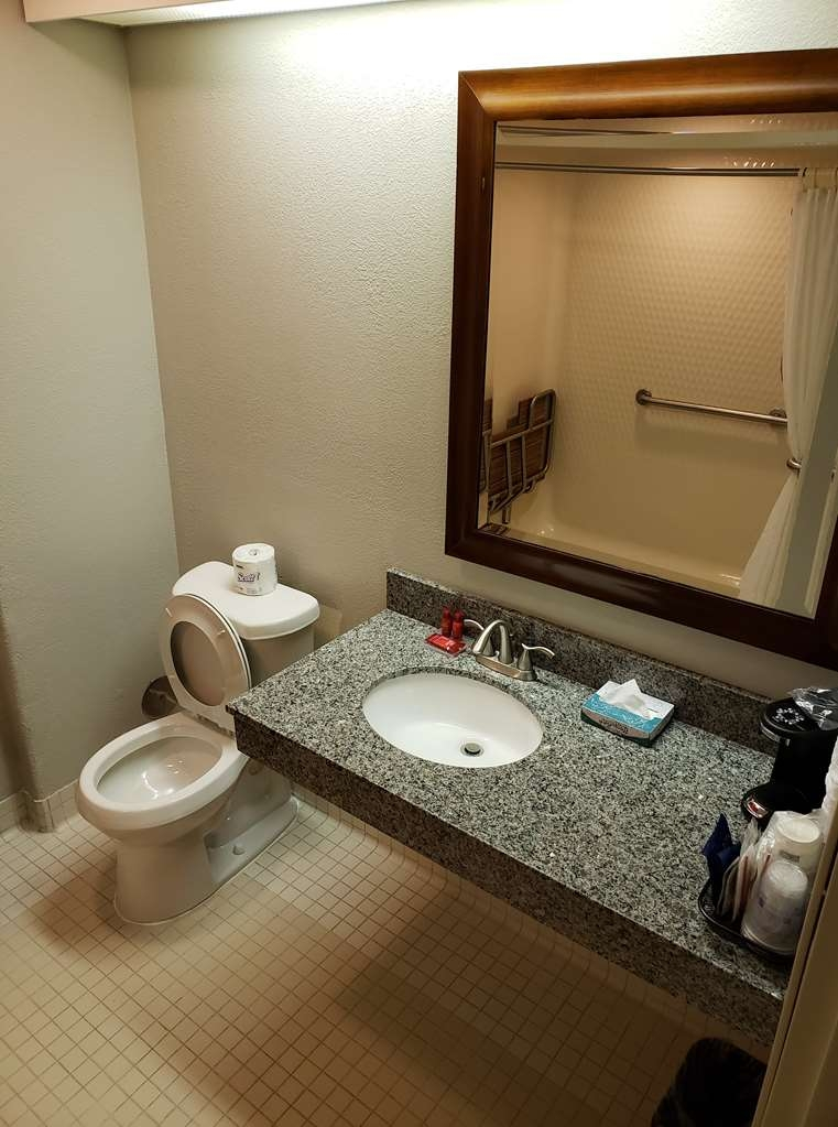 SureStay Plus by Best Western Thornton Denver North - This king mobility accessible bathroom offers height adjusted amenities to meet your needs.