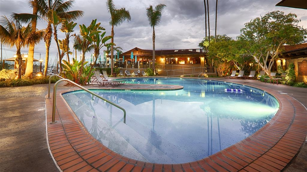 Best Western Plus Island Palms Hotel & Marina - The main pool area is just steps from the edge of San Diego Bay.
