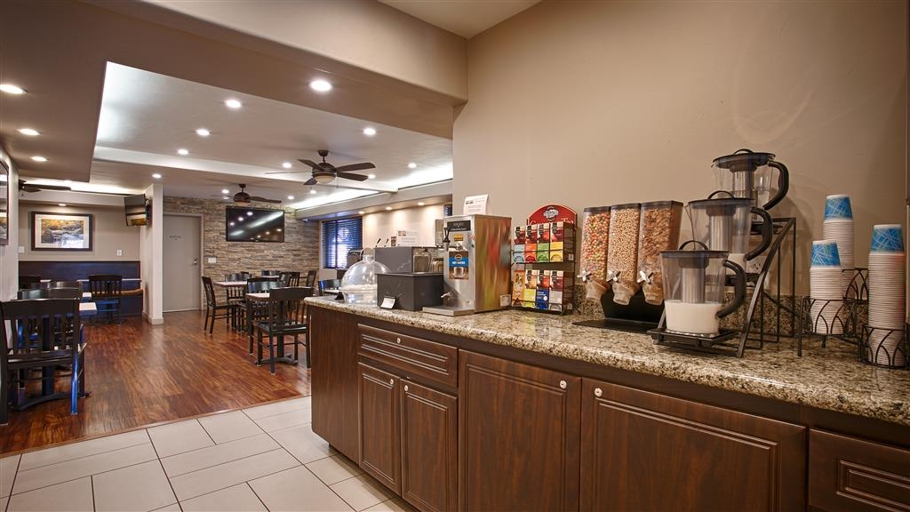 Best Western Bishop Lodge - Complimentary Continental Breakfast. Includes a choice of breads, cereal, fruit, eggs, yogurt, juice, coffee and hot items.