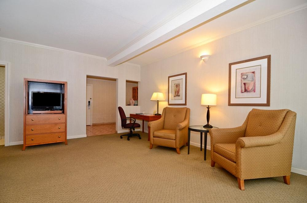 Best Western De Anza Inn - A Murphy bed is located in the living room area of our studio suite.