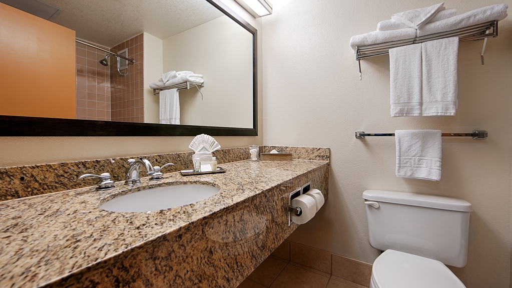 Best Western Plus Bayside Inn - Guest Bathroom and sink area.