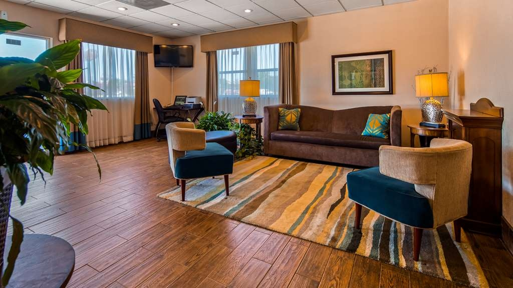 SureStay Hotel by Best Western Ottawa - Our lobby is the perfect spot to relax after a long day of work and travel.