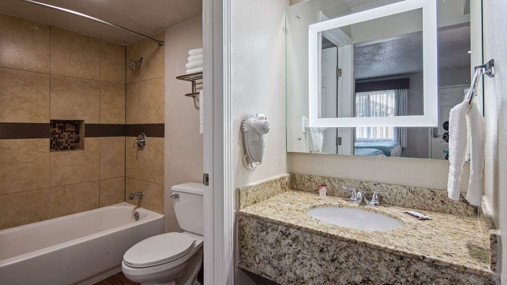 SureStay Hotel by Best Western Laredo - All guest bathrooms have a large vanity with plenty of room to unpack the necessities.