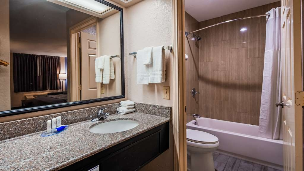 SureStay Hotel by Best Western Terrell - All guest bathrooms have a large vanity with plenty of room to unpack the necessities.