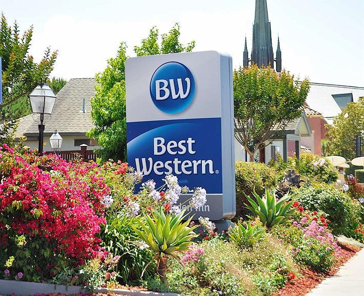 Best Western Rose Garden Inn - Sign