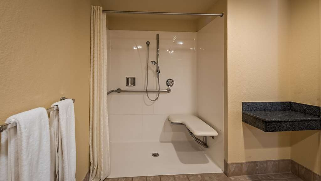Best Western Cordelia Inn - Guest Bathroom ADA Roll In Shower