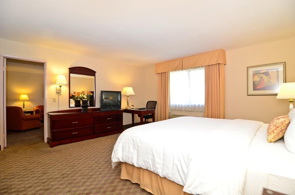 Best Western Plus West Covina Inn - One Bed Room King Suite - Bedroom Area