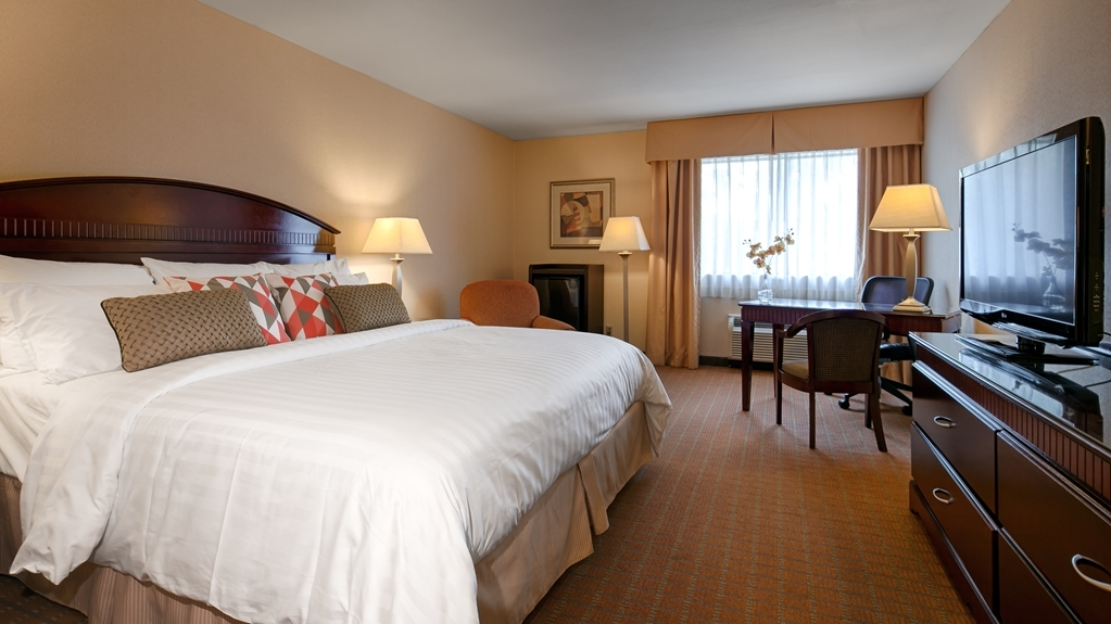 Best Western Plus West Covina Inn - King Guest Room with Refrigerator and Work Desk