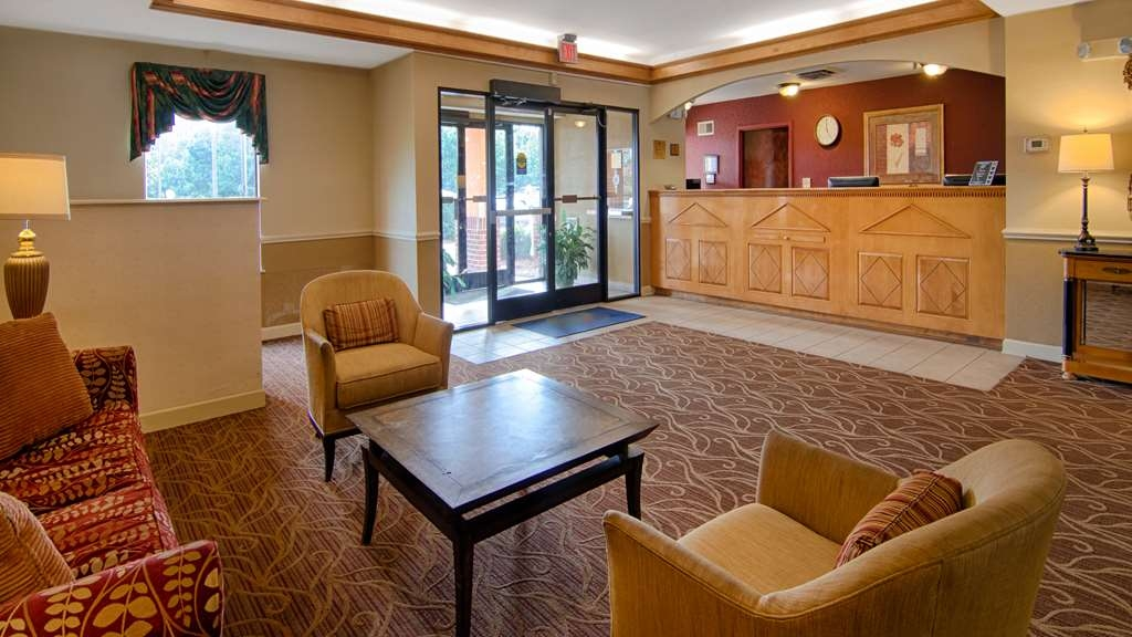 SureStay Plus Hotel by Best Western Tarboro - Our lobby is the perfect spot to relax after a long day of work and travel.