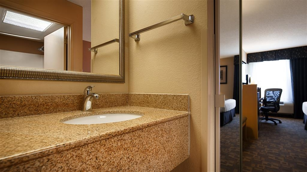 SureStay Plus Hotel by Best Western Roanoke Rapids - Enjoy getting ready for the day full of adventure in this fully equipped bathroom.