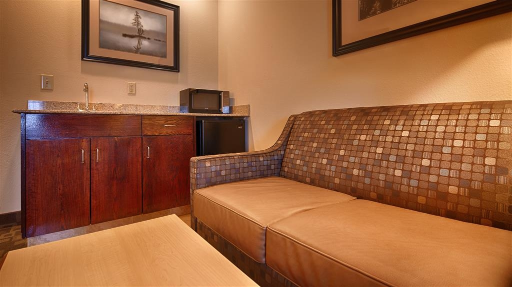 SureStay Plus Hotel by Best Western Roanoke Rapids - Spend some time after a hectic day in the living room featured in our king junior suite.