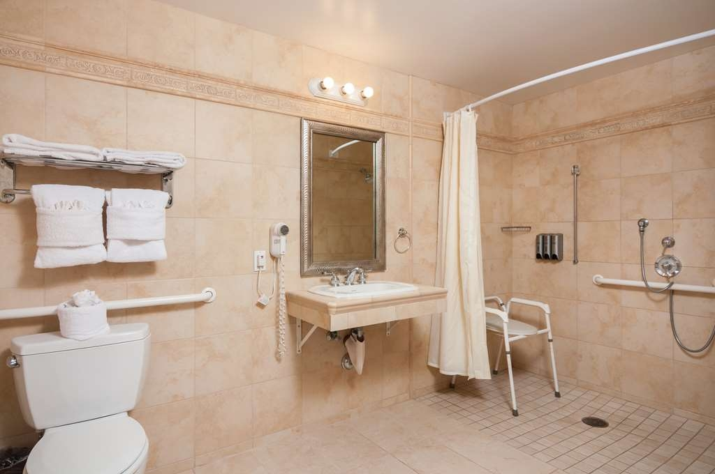 Best Western Plus Casablanca Inn - Mobility Accessible Bathroom with Roll-in Shower