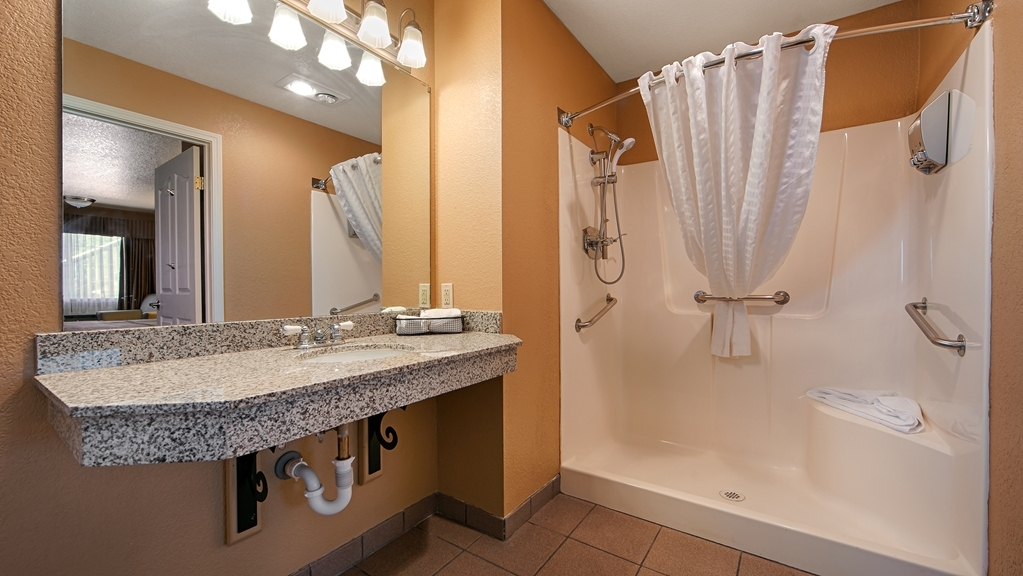 Best Western Country Inn - For your convenience, we have a mobility accessible bathroom with roll-in shower.