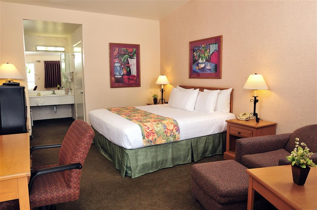 Best Western Lamplighter Inn & Suites at SDSU - Perfect for a traveling couple featuring one pillow top king or queen bed.