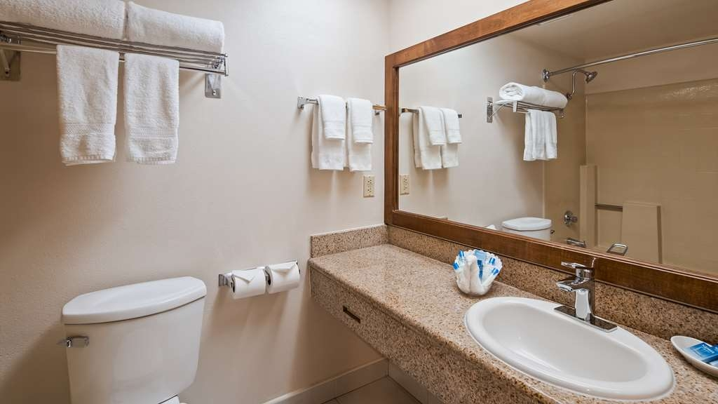 Best Western Plus Palm Desert Resort - Guest Bathroom with hair dryer and all the amenities you will need
