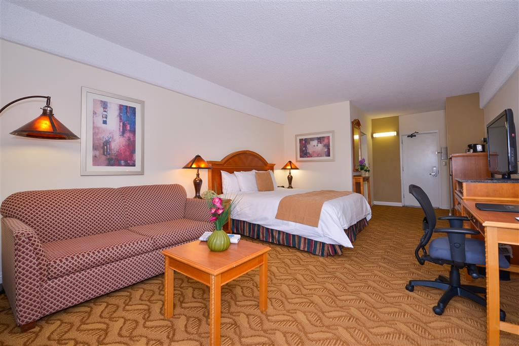 Best Western Plus Thousand Oaks Inn - 350 square foot deluxe king with a queen sofabed