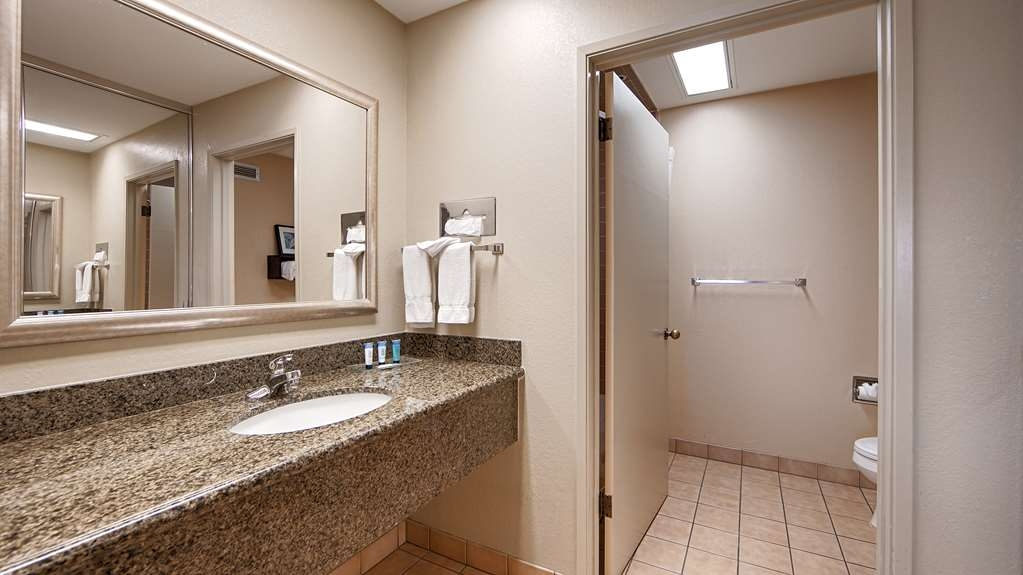 Best Western Plus Forest Park Inn - All guest bathrooms have a large vanity with plenty of room to unpack the necessities.