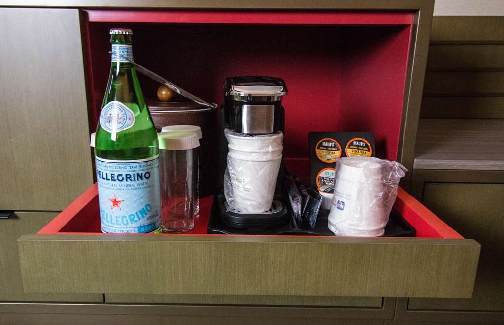 Best Western Plus High Sierra Hotel - All guest rooms have a personal coffee maker, ice bucket with glasses, and a complimentary bottle of either Perrigrino or sparkling water.
