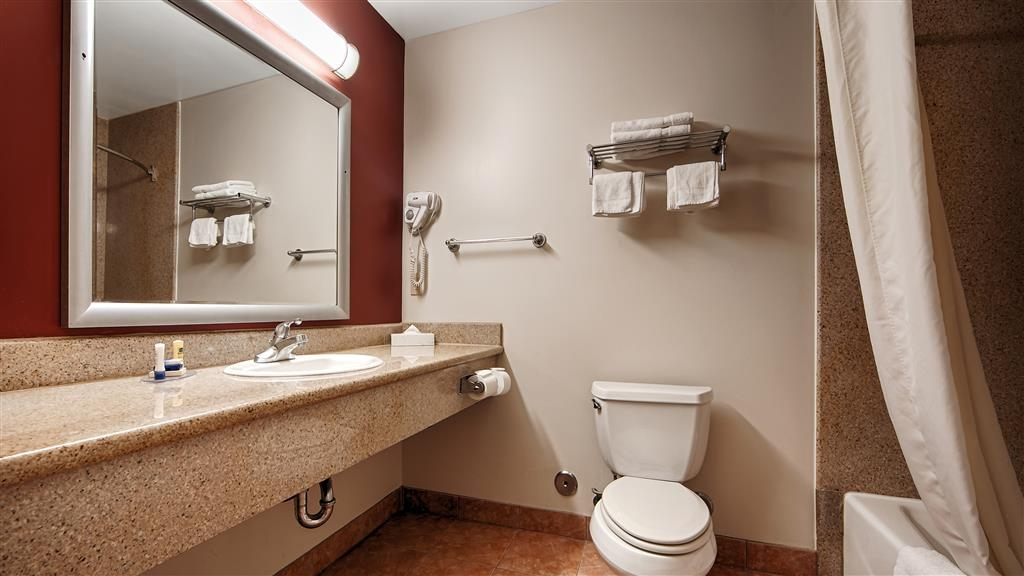 Best Western Burbank Airport Inn - All guest bathrooms have a large vanity with plenty of room to unpack the necessities.