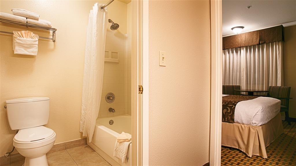 Best Western Plus Orchid Hotel & Suites - All of our guest bathrooms have a large vanity with plenty of room to unpack the necessities.