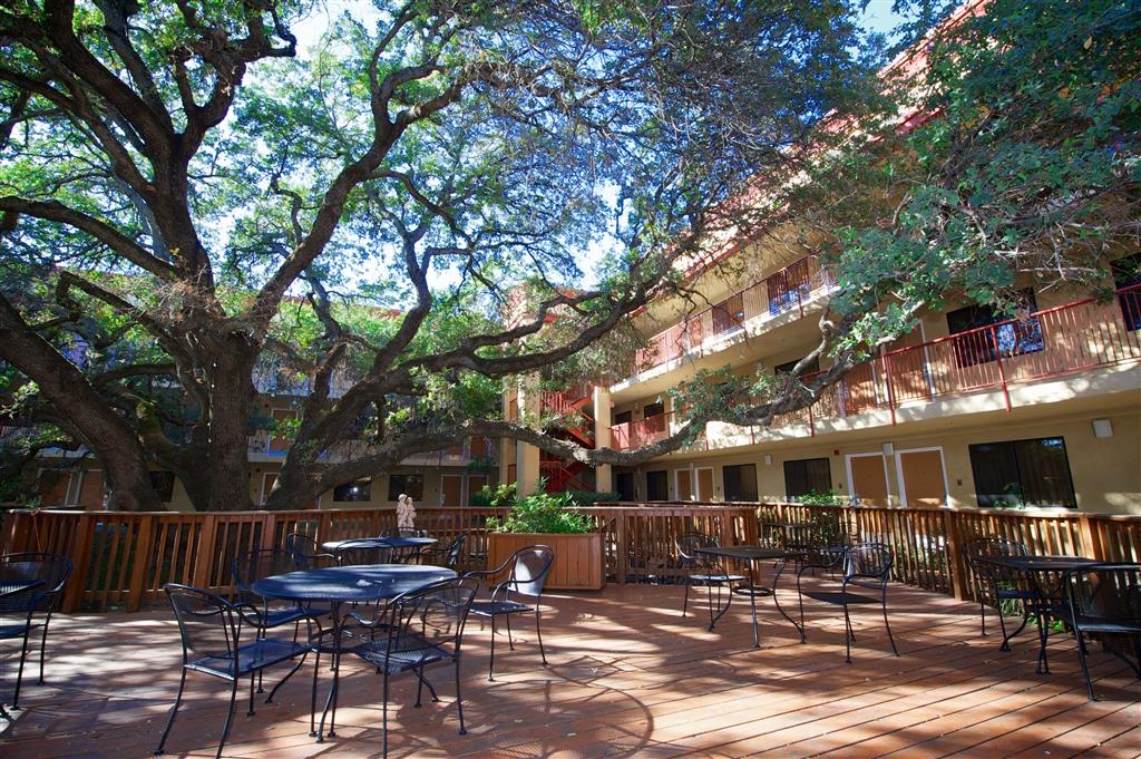 Best Western Plus Orchid Hotel & Suites - Enjoy a moment of solitude on our outdoor public deck in our courtyard.