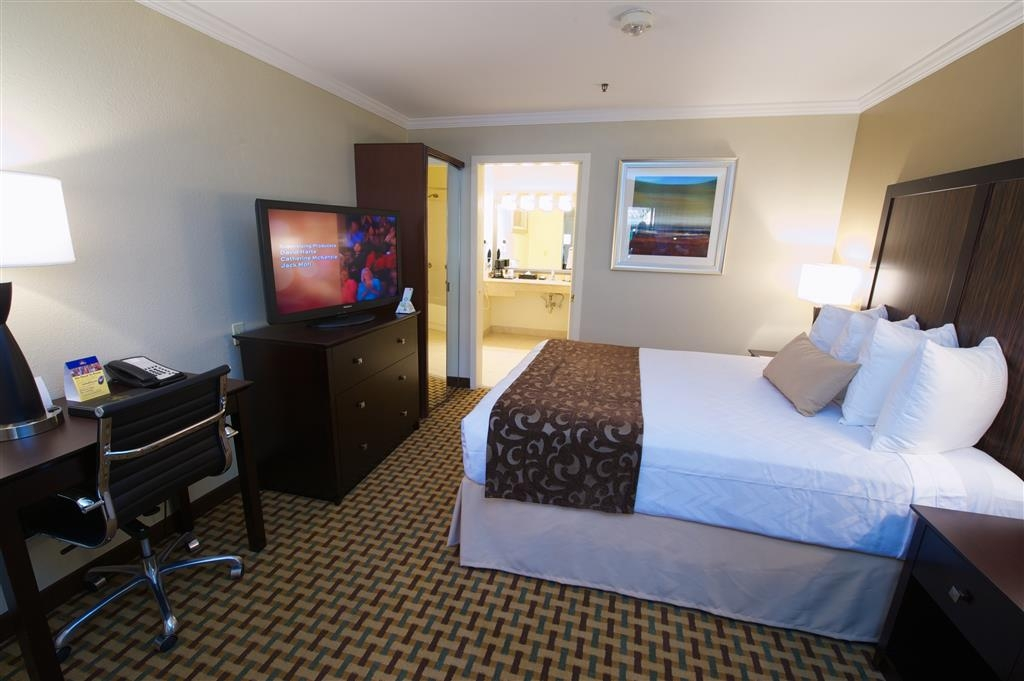 Best Western Plus Orchid Hotel & Suites - Our king guest room is suitable for work and relaxation.