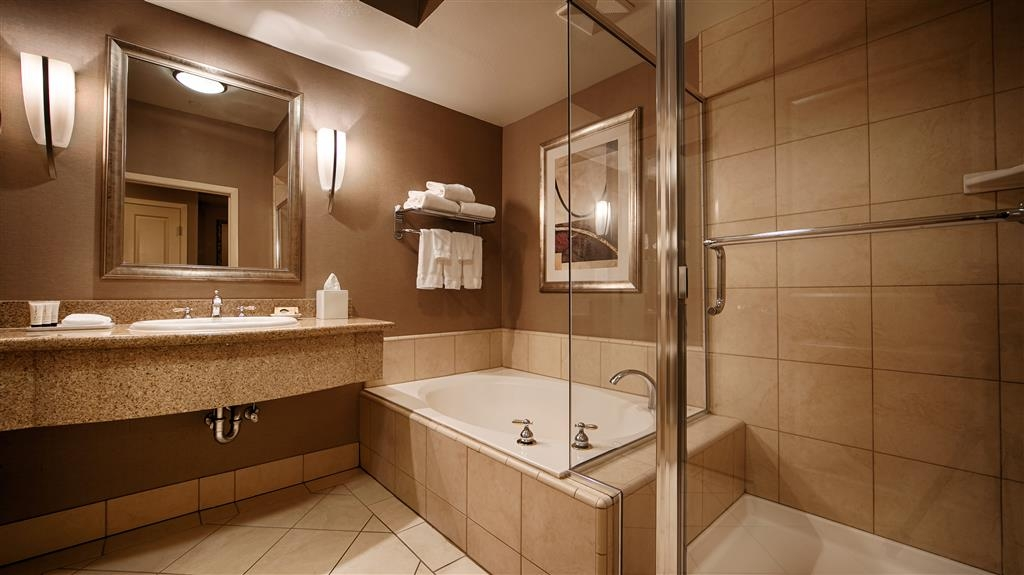 Best Western Plus Bayside Hotel - Our bathrooms are top of the line five star hotel bathrooms.
