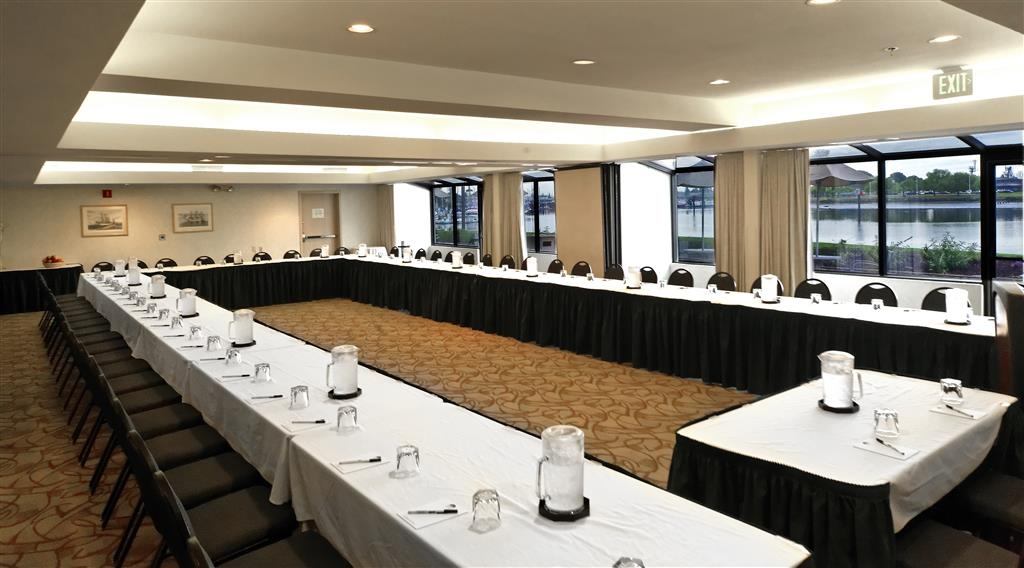 Best Western Plus Bayside Hotel - The Bayside Room is the largest and most popular meeting and banquet space with windows overlooking the water and outdoor patio access.