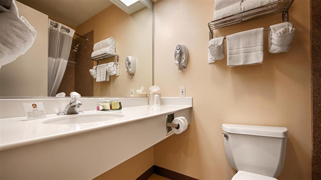 Best Western Turquoise Inn & Suites - All guest bathrooms have a large vanity with plenty of room to unpack necessities.
