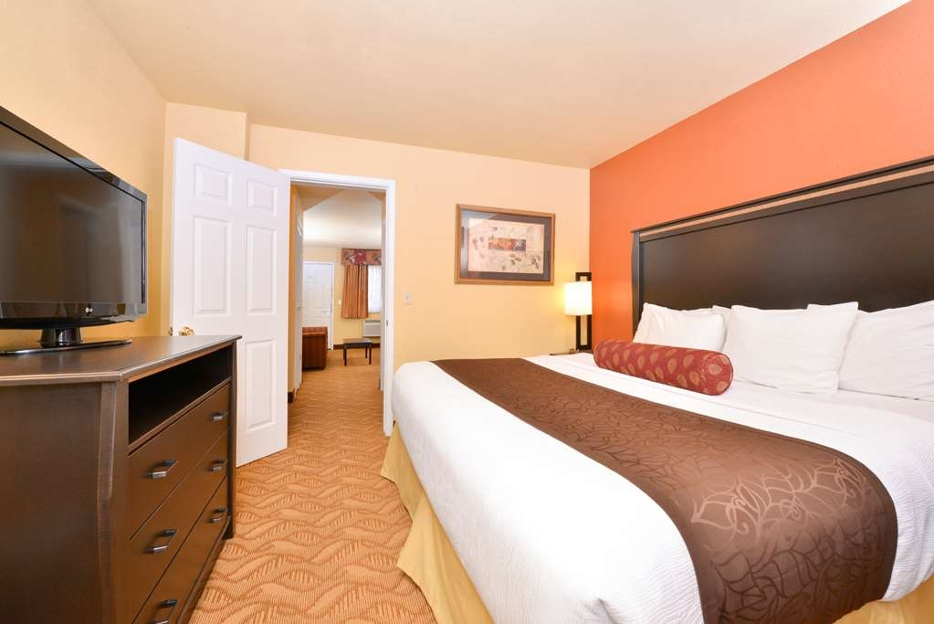 Best Western Durango Inn & Suites - King suite. Private bedroom with a king size bed. Enjoy a separate sitting area complete with a pull out sofa sleeper.