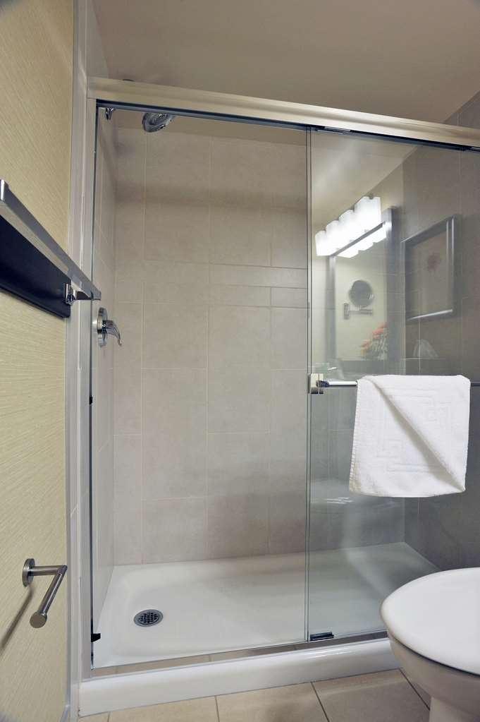 Best Western Premier Denham Inn & Suites - King guest room with walk-in shower.