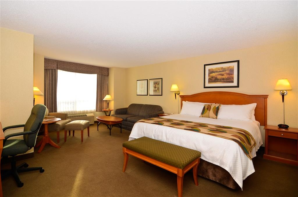 Best Western Plus Calgary Centre Inn - Our king guest room offers spacious accommodations for both work and relaxation.