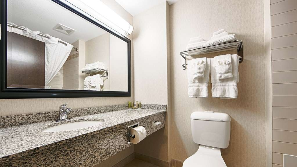 Best Western Wainwright Inn & Suites - All guest bathrooms have a large vanity with plenty of room to unpack the necessities.